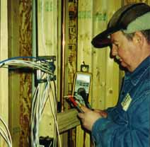 After prewiring a home under construction, Dave checks each conductor in every cable for shorts and opens, then records resistance readings for each pair. In the Winter construction sites can be cold.